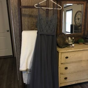 Grey Lace/Tool Gown